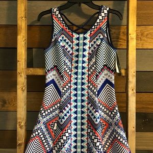 Sequin Hearts Printed Dress NWT S